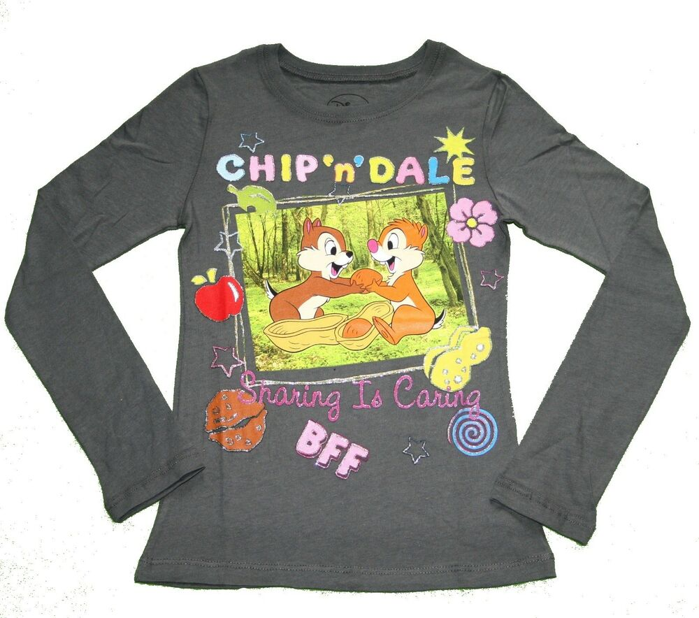 Disney alvin and the chipmunks long sleeve shirt girl size for Girls shirts size 8
