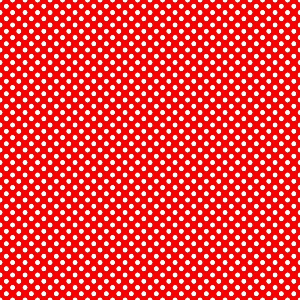 Polka dot red and white print a4 icing sheet cake topper for Red and white polka dot decorations