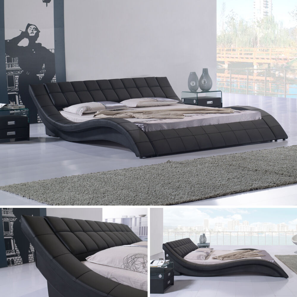 polsterbett bettgestell doppelbett designer bett raul 160x200 r00b neu ebay. Black Bedroom Furniture Sets. Home Design Ideas