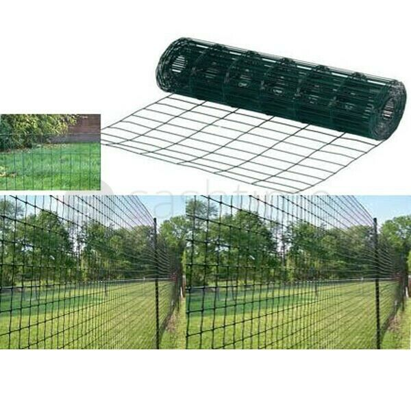 10M/20M/30M/40M X 0.9M GREEN PVC COATED GARDEN BORDER ...