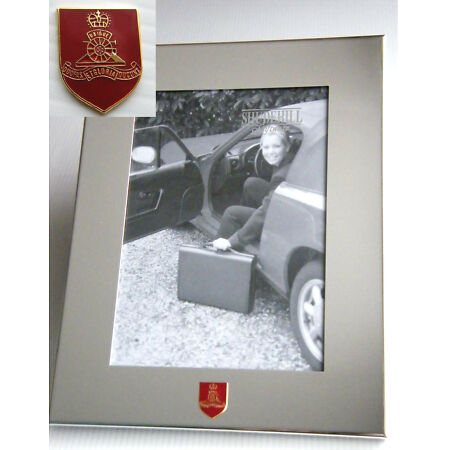 img-THE ROYAL ARTILLERY ARMY BADGE SILVER CHROME PLATED PHOTO FRAME MILITARY OPTIONS