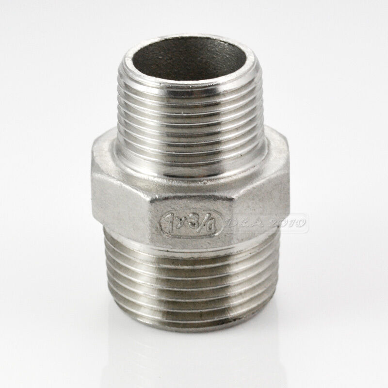 Hex nipple quot male stainless steel threaded
