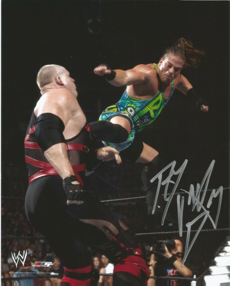Rob van dam autograph wwe 8x10 promo photo tna ecw rvd - Wwe rvd images ...