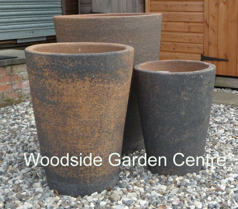 Extra large old stone monster crucible plant pots vases Extra large pots for plants