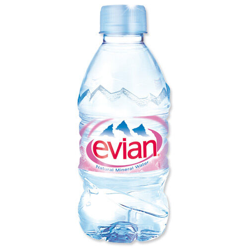 Evian Natural Mineral Water 24x330ml Plastic Bottle ...
