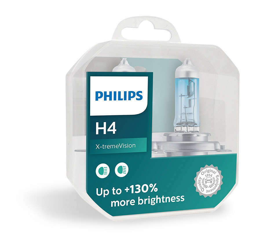 philips x treme vision 130 headlight bulbs h4 12v 60 55w. Black Bedroom Furniture Sets. Home Design Ideas