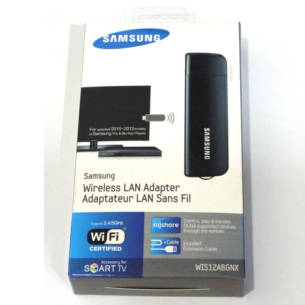 samsung smart tv wireless lan adapter wis12abgnx wifi dongle adaptor internet ebay. Black Bedroom Furniture Sets. Home Design Ideas
