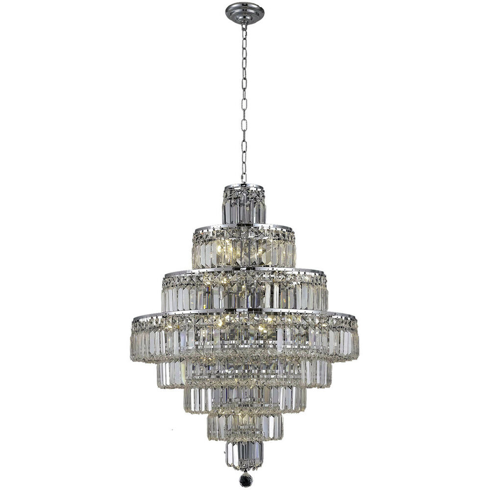 18 LIGHT LARGE ASFOUR CRYSTAL MODERN CHANDELIER FOYER