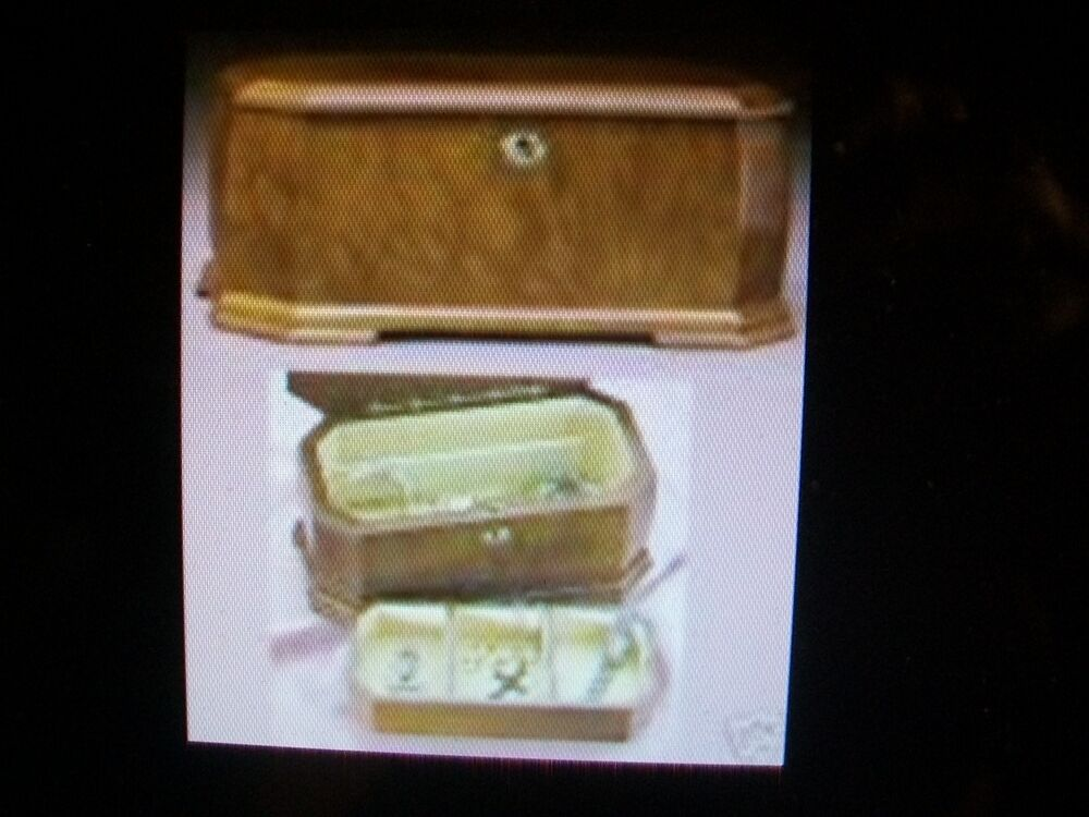 Jewelry Box Burled Wood Franklin Mint New In Box Ebay