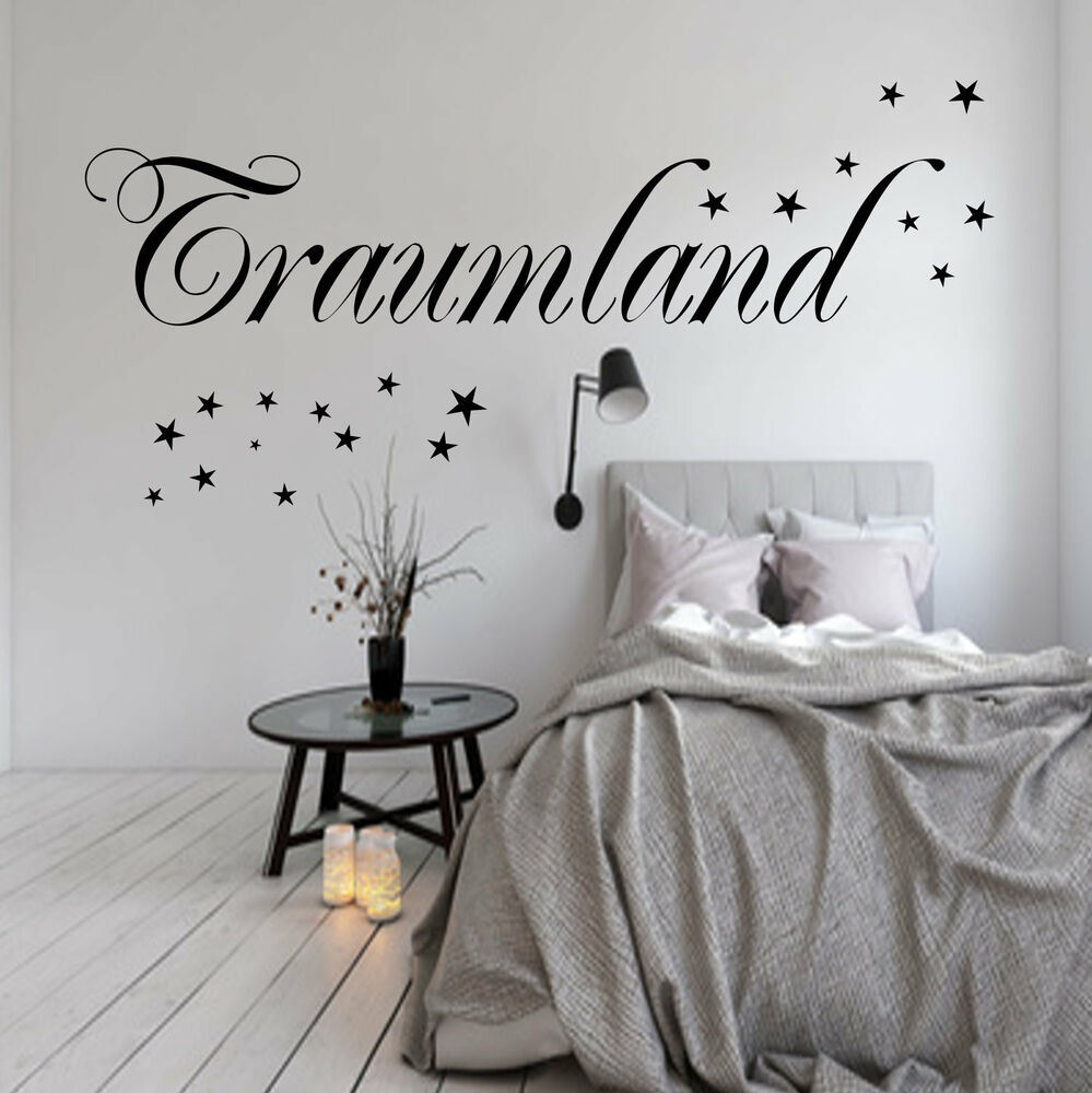 traumland wandtattoo schlafzimmer kinderzimmer wanddekoration sterne wandfolie ebay. Black Bedroom Furniture Sets. Home Design Ideas