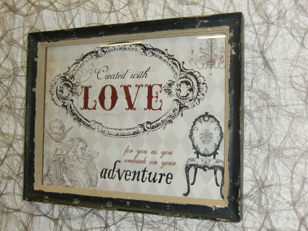 Shabby chic country tolles love holzbild vintage bild - Vintage and chic love ...