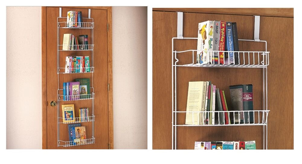 over the door storage rack for extra storage of books or pantry behind the door ebay. Black Bedroom Furniture Sets. Home Design Ideas
