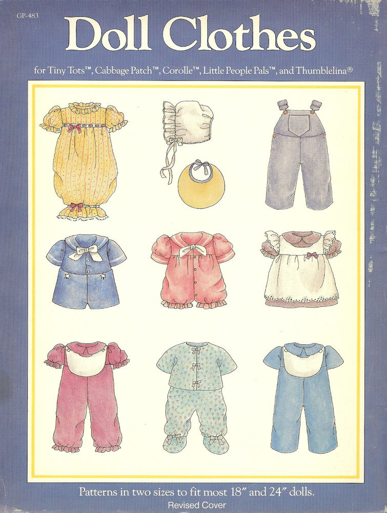 doll clothes book for tiny tots cabbage patch corolle