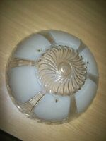 Deco antique hanging pressed glass lamp shade