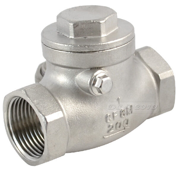 New quot stainless steel swing check valve wog psi