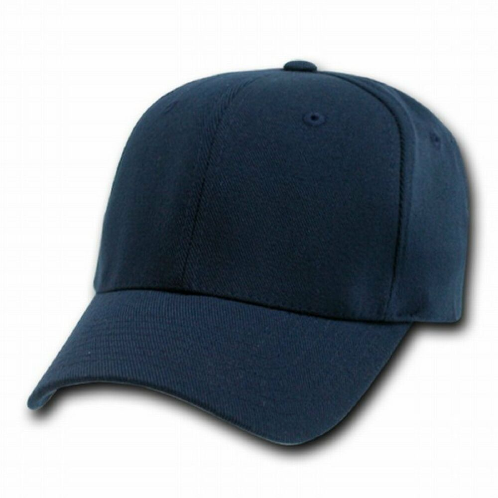 Navy Blue Flex Fit Ultra Fit Baseball Cap Hat Caps Hats Ebay