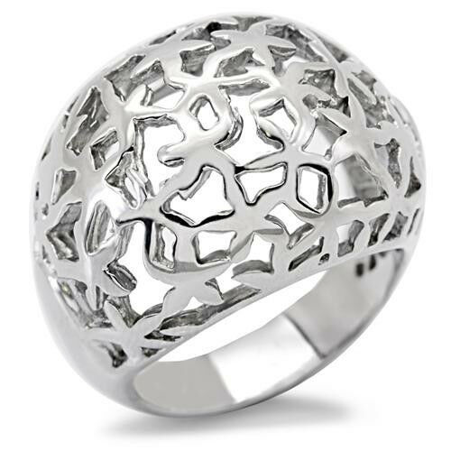 Huge Dome No Stone Silver Stainless Steel La S Ring New Ebay