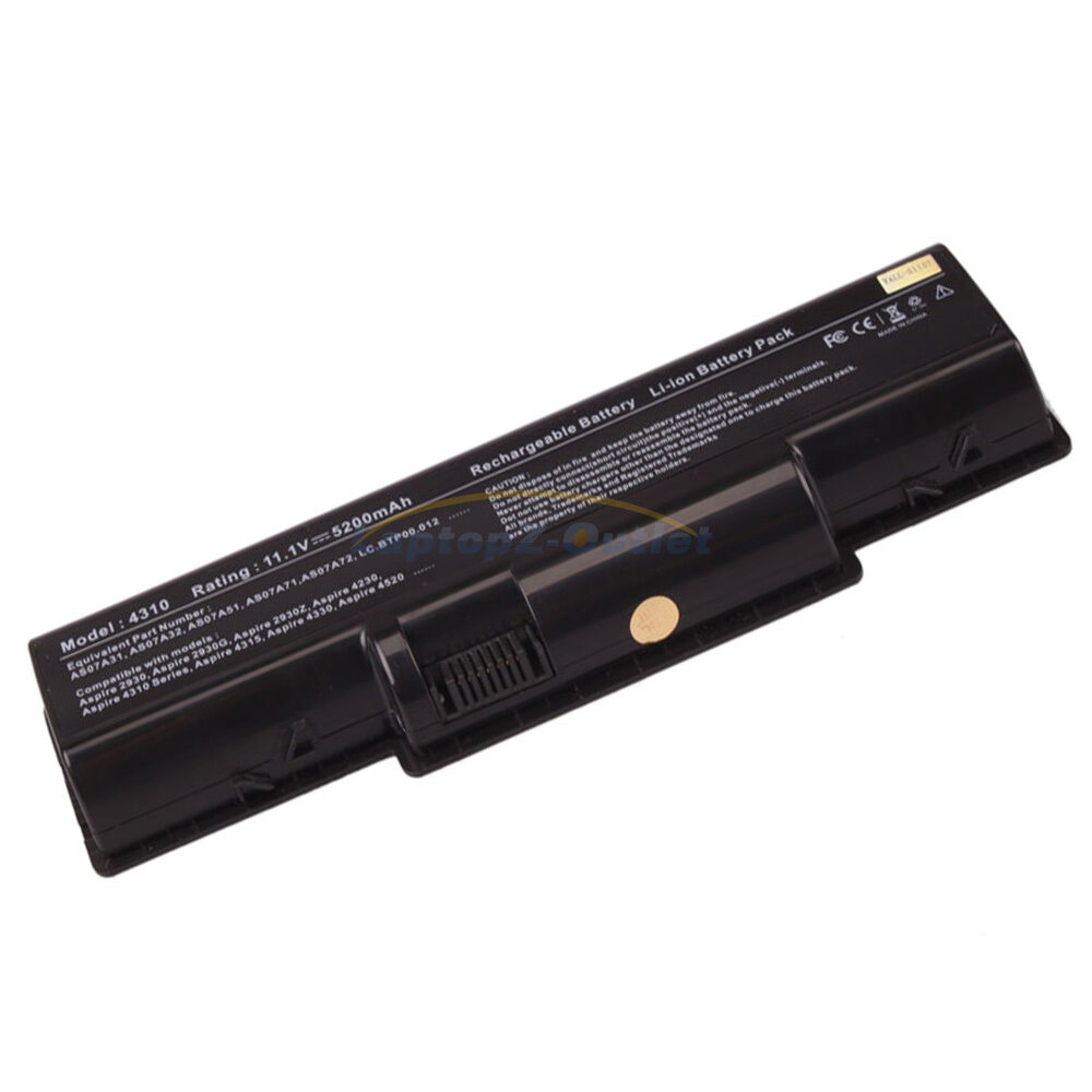 New 6 Cell Battery For Acer Aspire 5536 5536g 5738 5738g 5738z 5738zg 5735 5735z