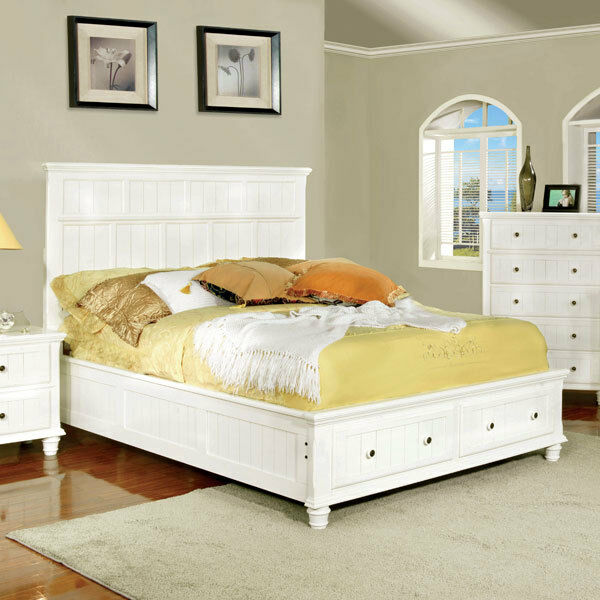 Solid wood willow creek cottage style bed frame set ebay for Bungalow style picture frames