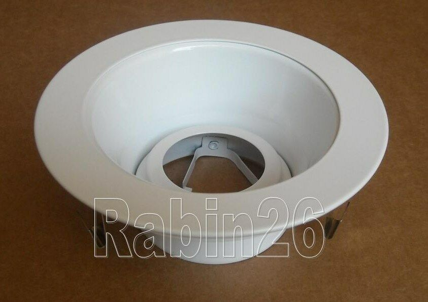 """6 Inch Par30 Adjustable Gimbal Ring Trim White Recessed: 4"""" INCH RECESSED CAN LIGHT WHITE SMOOTH REFLECTOR BAFFLE"""