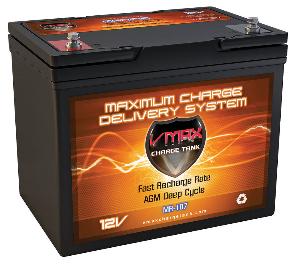 vmax mr107 12v agm deep cycle battery ideal for minn kota