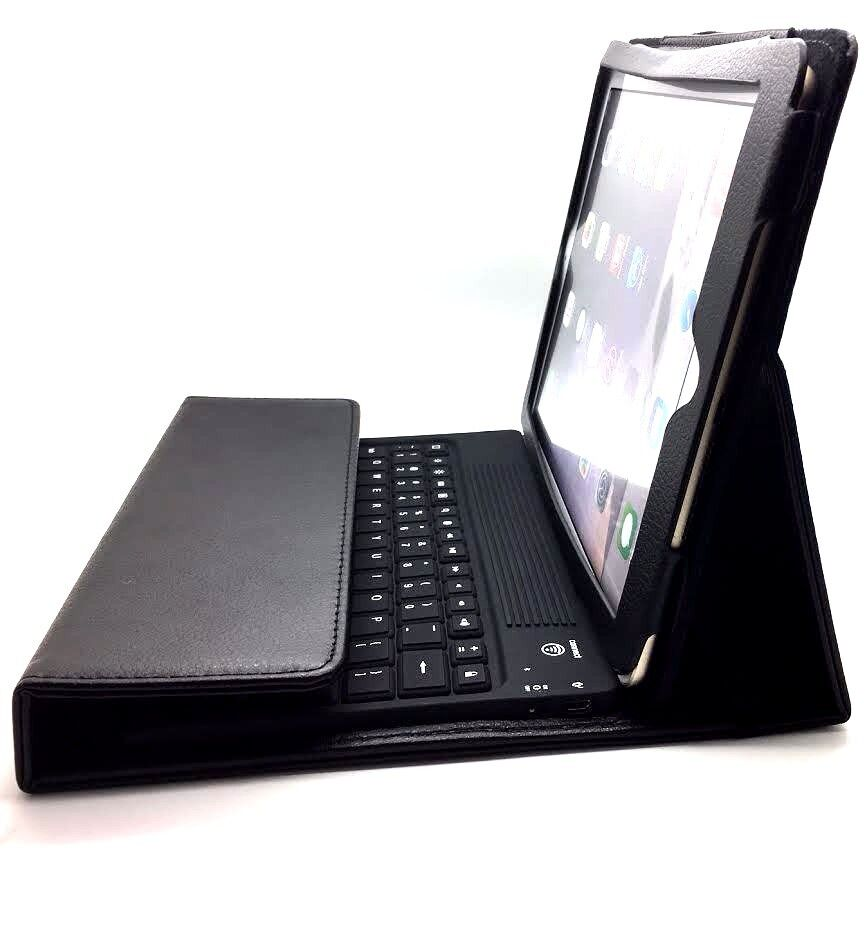 VoLTE leather case with built in bluetooth keyboard for new ipad 4 or ipad mini and ipad 3 Virgin