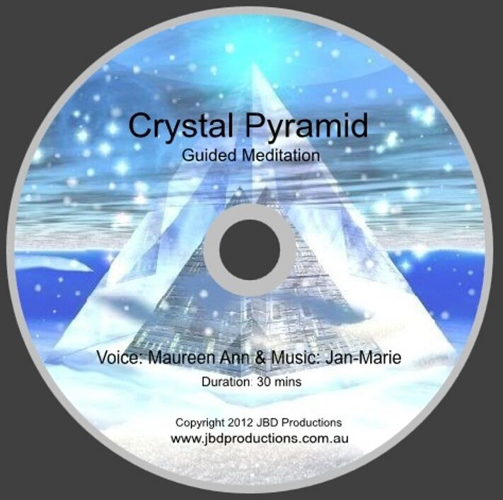 Crystal pyramid guided meditation cd by maureen amp jan marie relax