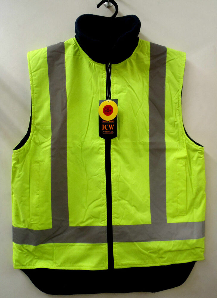 Reversible Hi Vis Day Night Layer Vest Safety Workwear