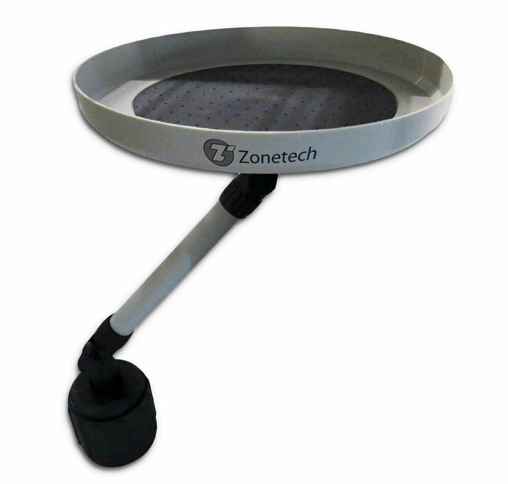 Zone Tech Car Vehicle Swivel Round Table Cup Holder Tray