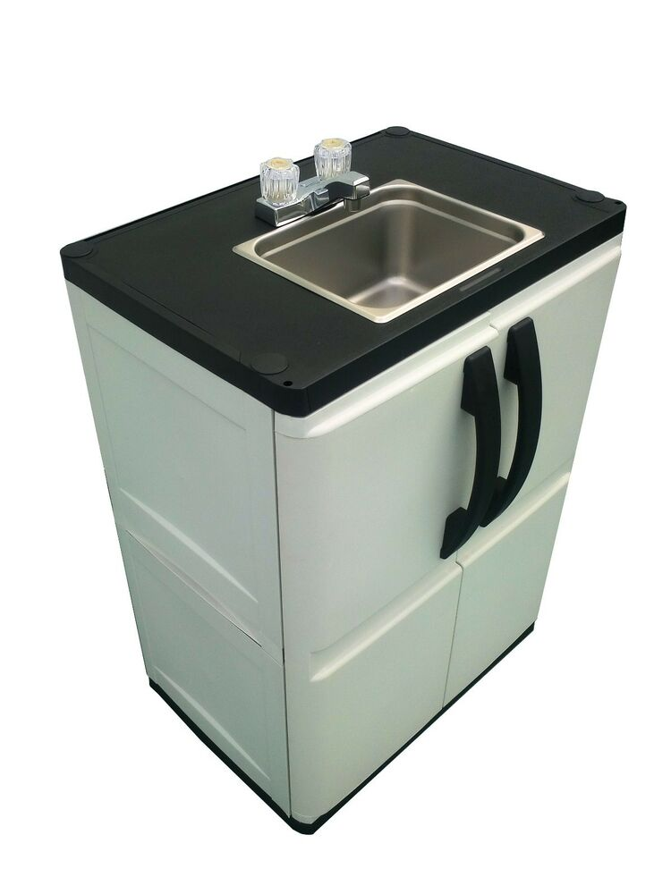 Portable outdoor sink garden camp kitchen camping rv ebay for Outdoor kitchen sink