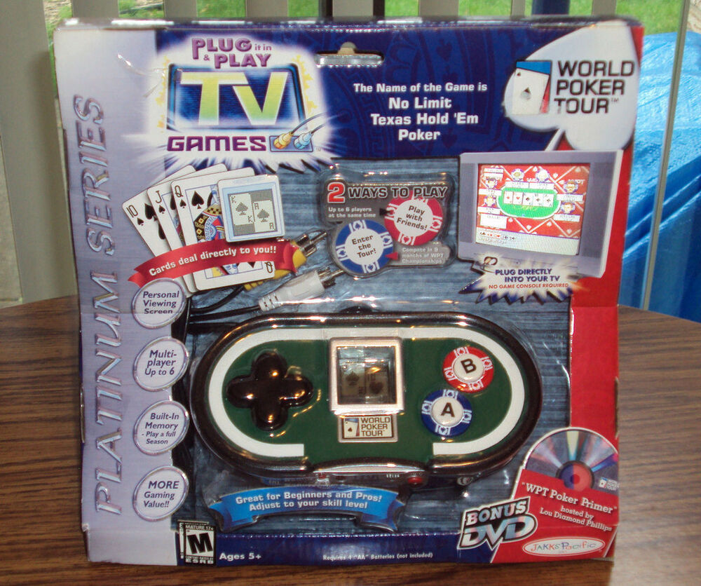 Tv Games Plug Into : World tour poker plug play tv games brand new ebay