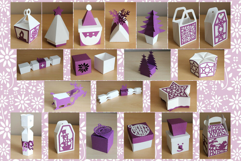 Craft Robo Silhouette Xmas Gift Box Bag Amp Favour