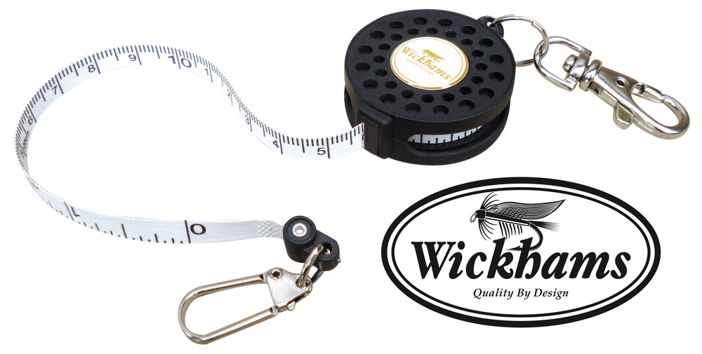 Zinger retractable pin on reel with tape measure fly trout for Fish measuring tape