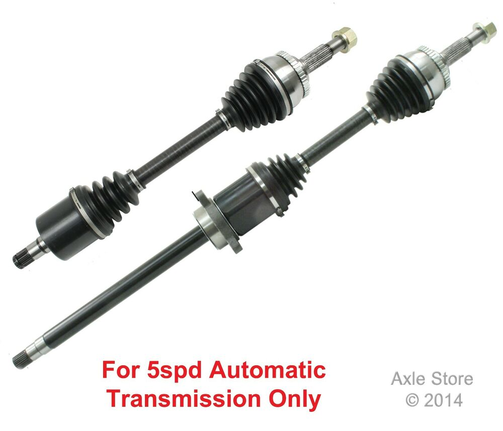 2 new front cv axles fit nissan maxima se with 5spd automatic transmission only