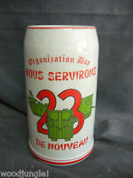23d ENGINEER BATTALION NOUS SEVIRONS DE NOUVEAU BEER STEIN CERAMIC GERMANY