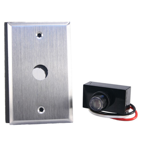 Flush Wall Mount Photo Control Eye Photocell 120v