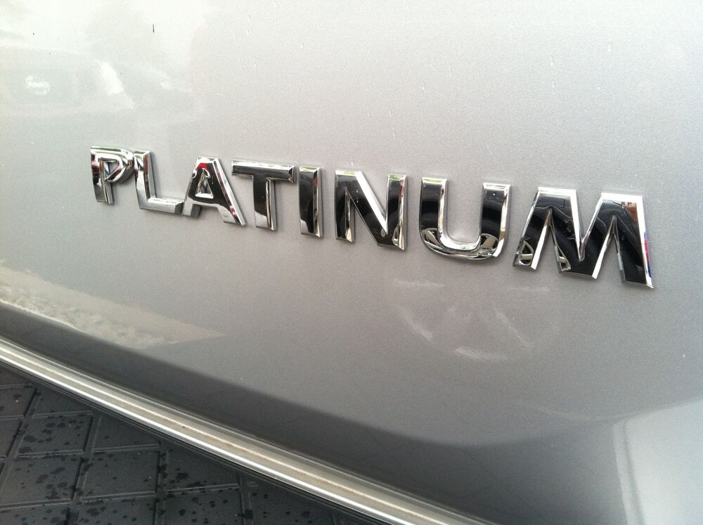 Nissan Pathfinder Platinum >> NISSAN ARMADA - PLATINUM - EMBLEM FOR REAR GATE | eBay