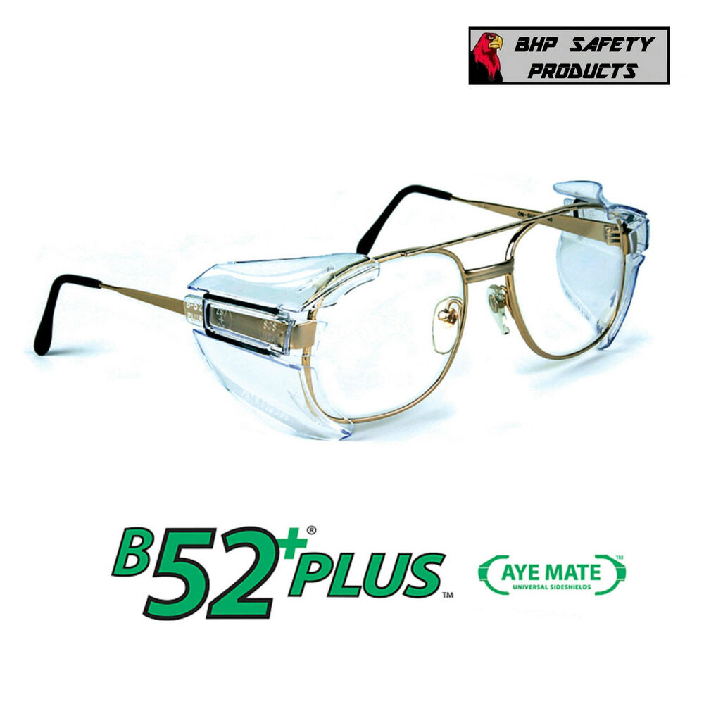 3e0baeec43de Details about B52+ SIDE SHIELDS FOR RX GLASSES SAFETY EYEWEAR EYE PROTECTION  ANSI Z87.1