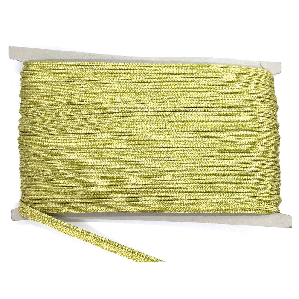 5m Gold Bias Piping Cord For Binding Covered Insertion Tap