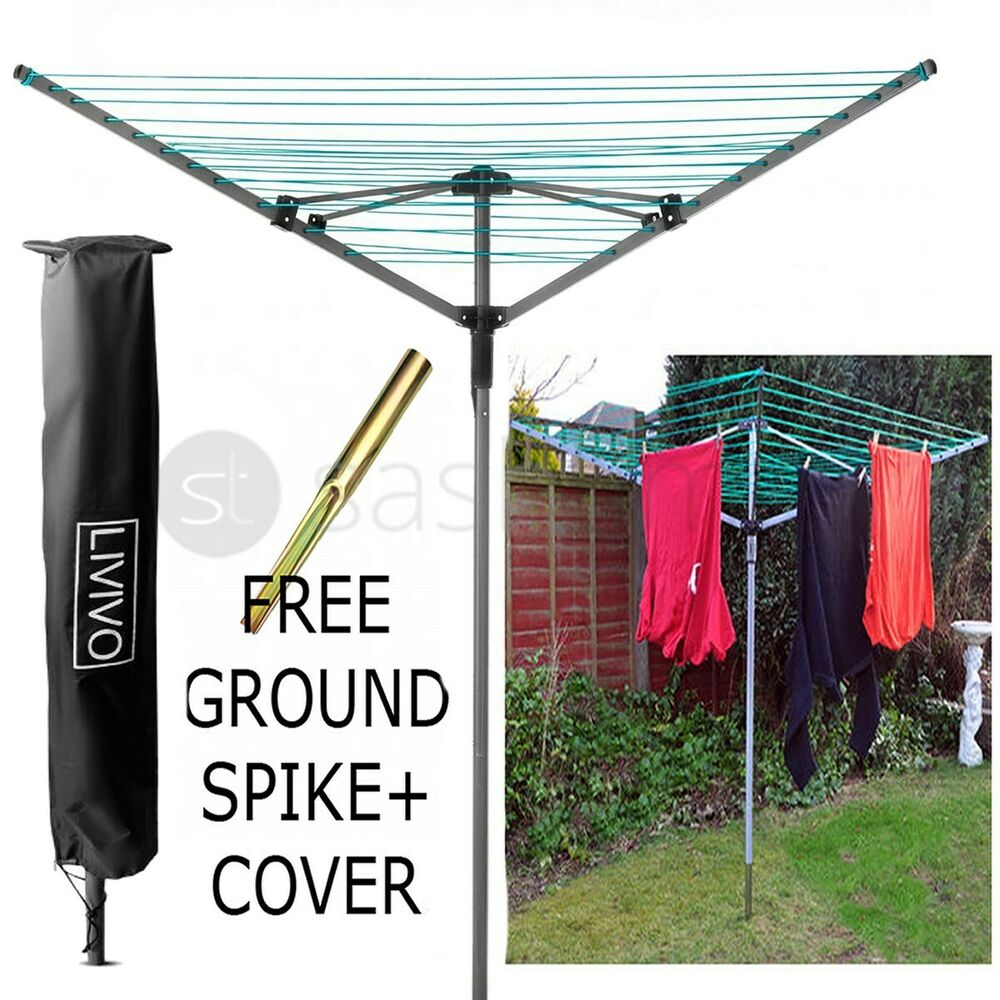 4 arm rotary garden washing line clothes airer dryer. Black Bedroom Furniture Sets. Home Design Ideas