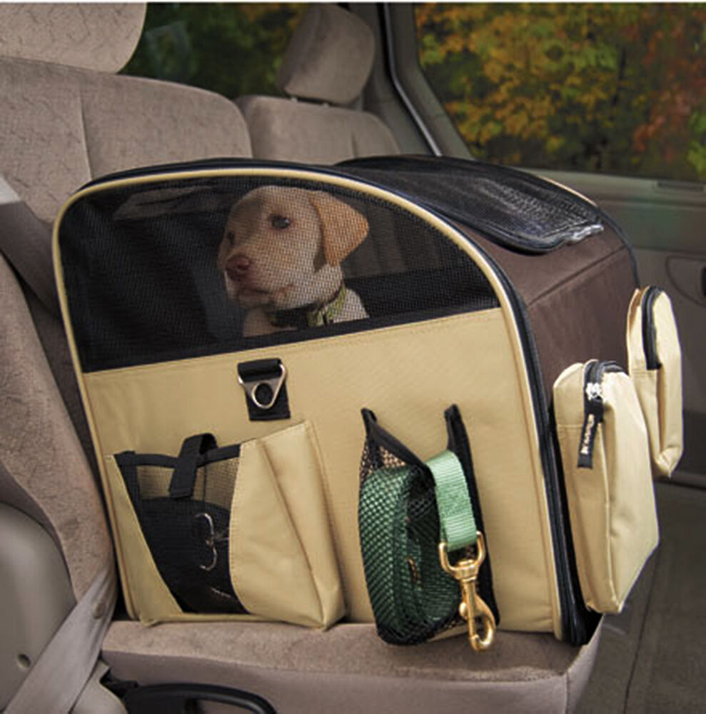 valentina valentti luxury dog cat puppy pet car seat carrier l size black ebay. Black Bedroom Furniture Sets. Home Design Ideas