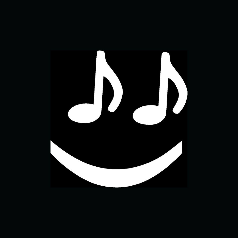 Music Note Smiley Face Sticker Cute Funny Vinyl Decal Love
