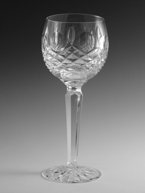 Waterford crystal kenmare cut hock wine glass for How to cut yourself with glass