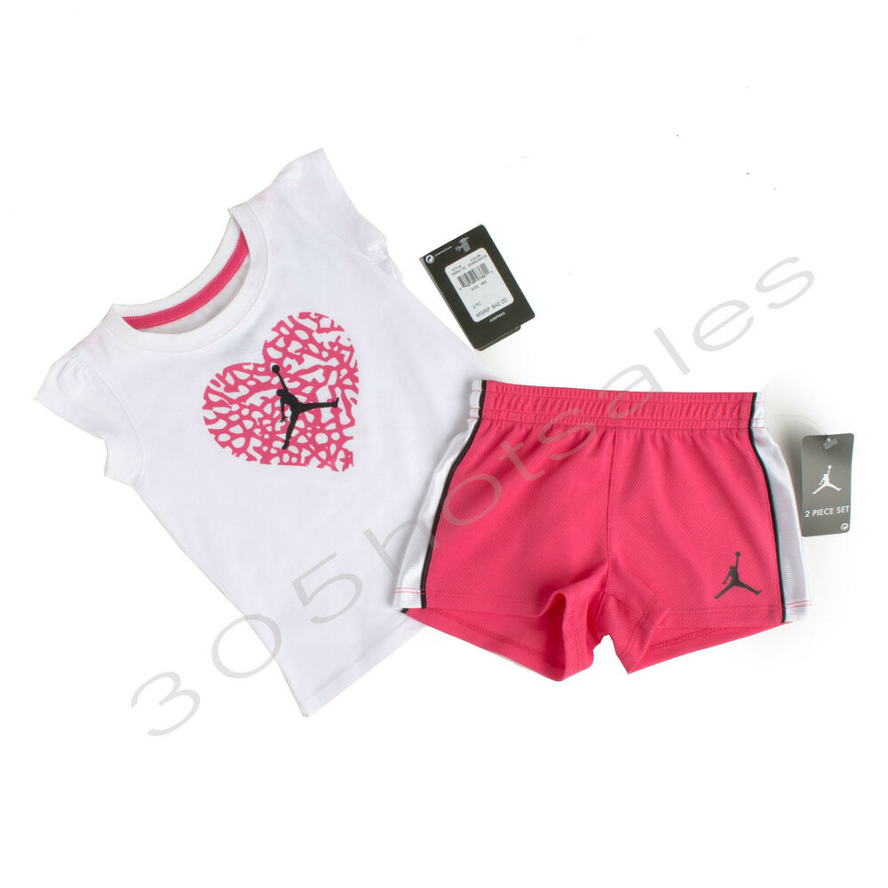Nike Air Jordan Toddler Girl Outfit Set Short