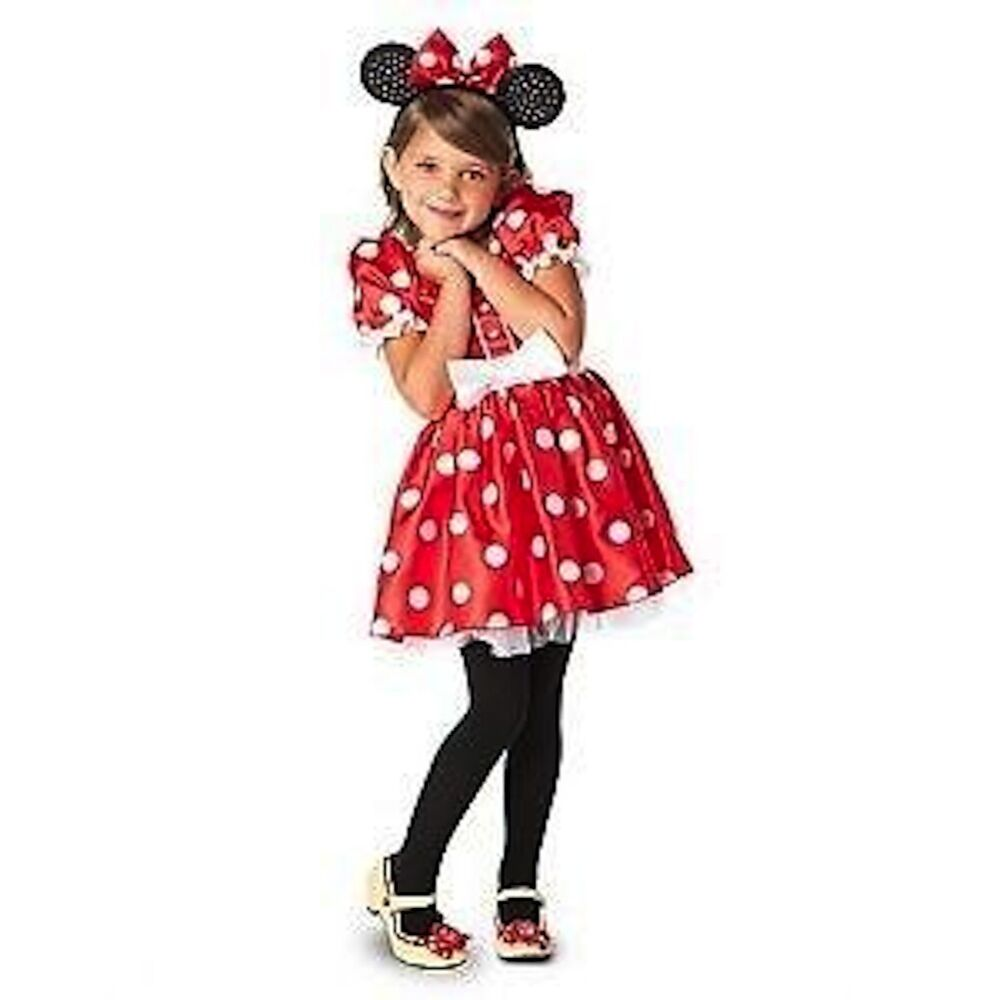 Disney Store Classic Minnie Mouse Red & White Polka dot Costume ...