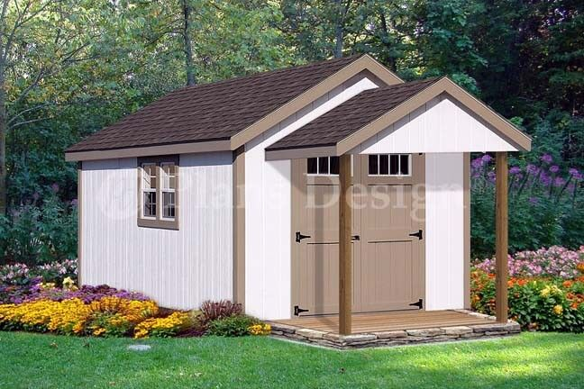 20 39 x 10 39 potting patio poolhouse shed plans p72010 for Pool house shed plans