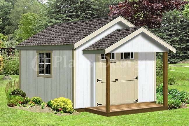 16 39 x 12 39 potting patio garden porch shed plans p71612 for Potting shed plans free