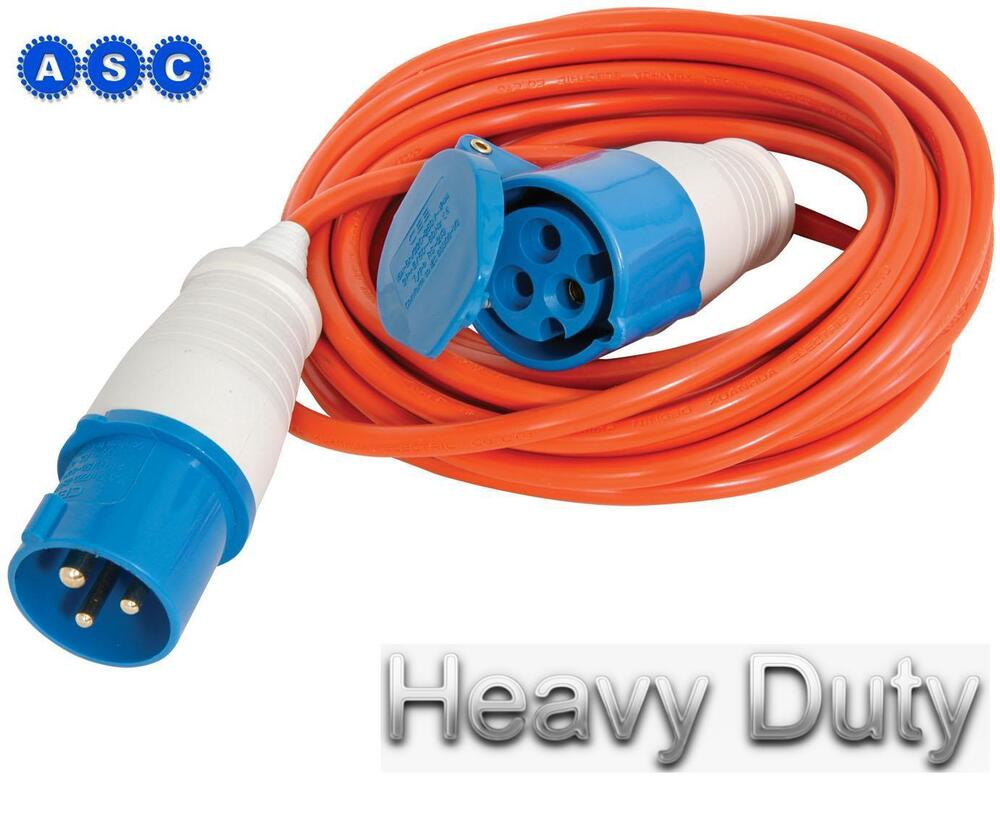 caravan hook up lead 25m It's pretty handy to be able to plug your caravan into site mains and power up your life while staying on a campsite 16 amp caravan mains lead - 25 metre (25mm.