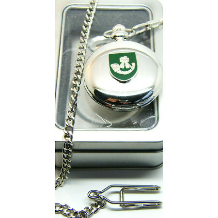 img-THE LIGHT INFANTRY BADGE CRESTED ARMY MILITARY POCKET WATCH CHAIN BOXED
