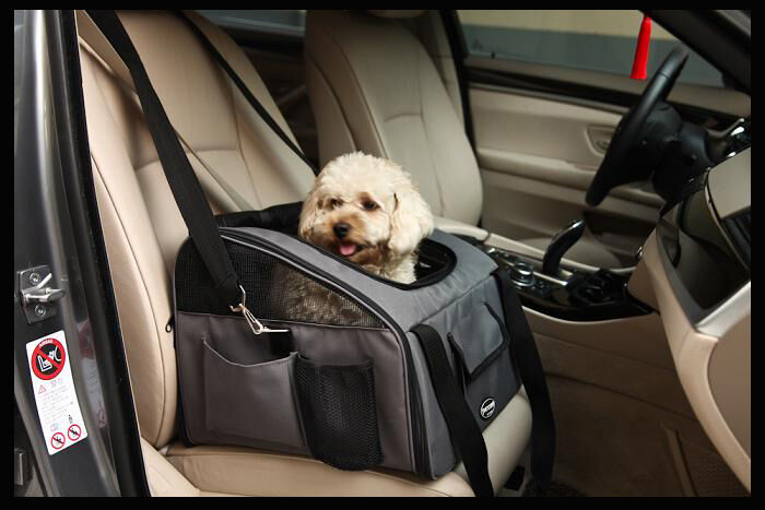 valentina valentti luxury dog cat puppy pet car seat carrier v4 grey ebay. Black Bedroom Furniture Sets. Home Design Ideas
